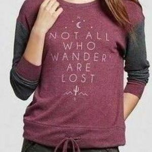 """Zoe + Liv """"Not All Who Wander Are Lost"""" Sweater"""